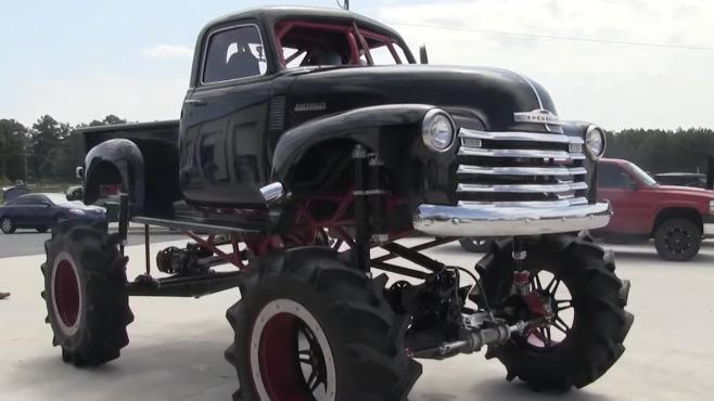 1950 Chevrolet Stepside 1300 Horsepower Huge Mud Truck