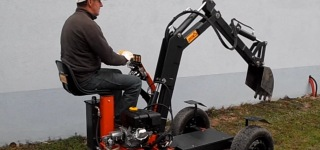 Efficiently Designed Multi-Functional Mini Digger Made in France
