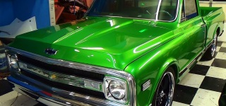 1970 Chevrolet C10 Pro Street Truck in Green Looks Like a Brand New Truck