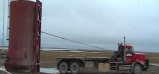 Loading a Huge Water Tank With a Fuel Truck Like a Real Pro!!!