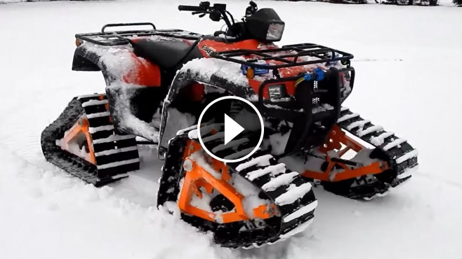 Most Reliable Truck Ever >> Amazing Cruise on Snow with Homemade All-Terrain Vehicle ...