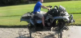 Muddy Pit Challenge with the World's Biggest and the Largest ATV