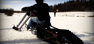 Super Cool Ride on Harley Chopper Snowmobile