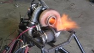 Badass Homemade Turbocharger Shoots Fire Out