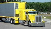 Cool Yellow Peterbilt with Full Trailer and Thermo King Reefer