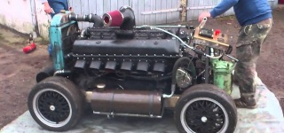 Rolls Royce Merlin - First Start of Tank Engine Rover Meteor