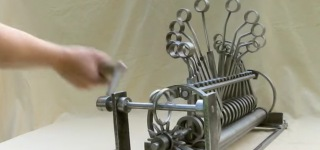 Brilliant Hand-Powered Kinetic Sculpture MUST SEE!!!