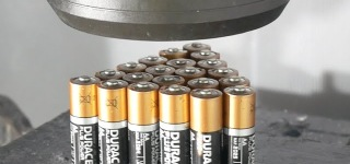 What Happens When You Crush 21 Duracell Batteries with Hydraulic Press?