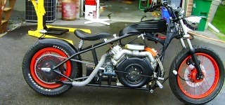 V Twin Diesel Motorcycle