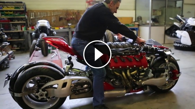 This Maserati V8 Powered Motorcycle Has 4 Wheels