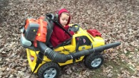 Genius Boy Works Wonders with Power Wheels and Leaf Blower