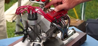 Miniature Chevy V8 Engine and Mini CNC 4-Axis Sound Cool As Hell!!!