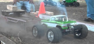 Super Fun with Mini Slash Cars-Finish Line RC Truck Pulling