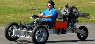 Impressive Trike Bike Krad Vehicle Powered by Jet Turbine Rides Like Thunder