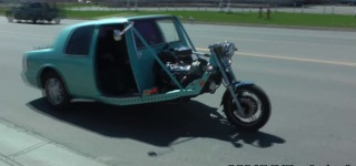 Vintage Mercury Cougar Transformed into Fantastic Motorcycle