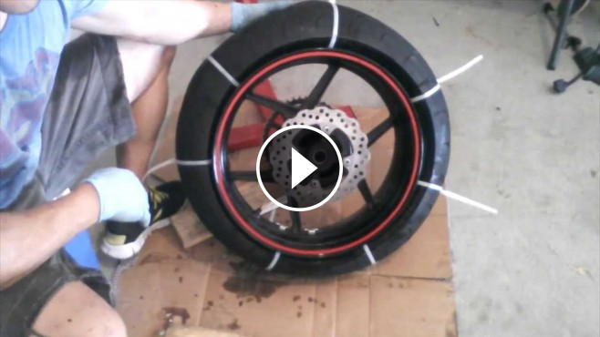 zip tie method how to take of motorcycle tire from rim manually. Black Bedroom Furniture Sets. Home Design Ideas