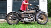 Henderson Deluxe 1928 Model Motorcycle Cold Start