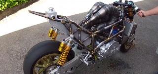 Custom Built 3 Cylinder 2 Strokes 700cc 150hp Yamaha Motorcycle