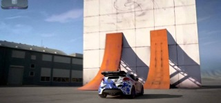 Hyundai Veloster Drifting On A Vertical Wall