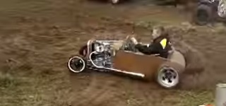 Honda CX500-Powered Small Scale Rat Rod Does Crazy Donuts