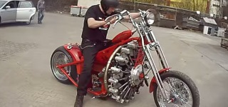 Sternmotorbike-Bizarre Motorcycle Built with Aircraft Engine