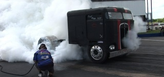 Absolute Badass Chop Top Semi Truck Doing Insane Burnouts