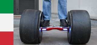 Formula Tires Attached Hoverboard Looks Really Awesome