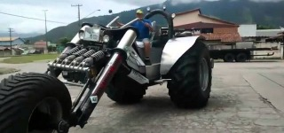 Brazilian Farmer Builds the Biggest Trike Ever!