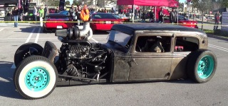 Crazy Rat Rods Rusted Supercars Drive By Cars & Coffee Must See!