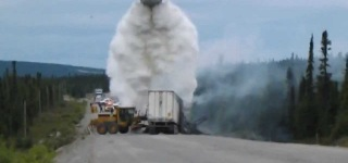 Air Tanker Ejaculates on Truck Fire
