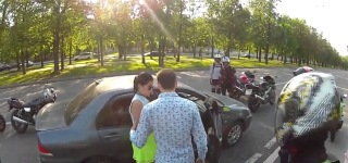 Bikers Attack Car Driver... You WONT Believe What Happens Next...