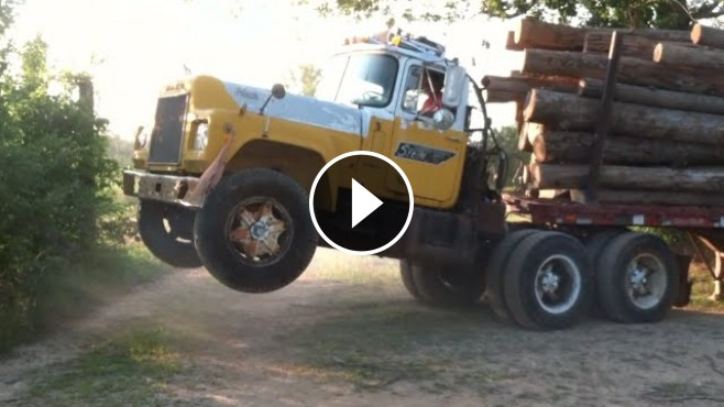 Old Chevy Cars >> Mack Truck Does WHEELIE