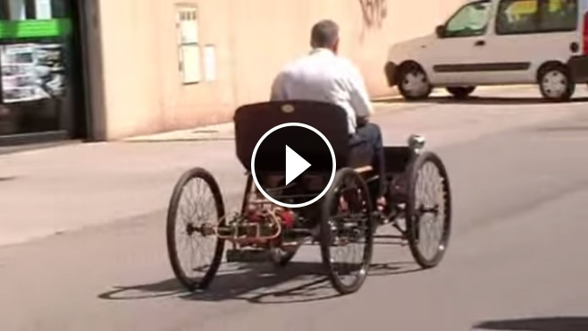 Incredible 1896 Henry Ford Quadracycle Replica