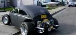 Astonishingly Cool Volkswagen Matte Black Hot Rod