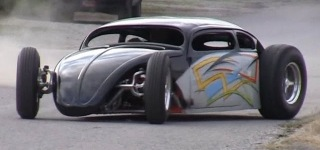 Exquisitely Cool Suzuki GSX-R 1000 Powered VW Bug Hot Rod!