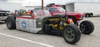 Air Force Themed '37 Chevy Rat Rod Truck