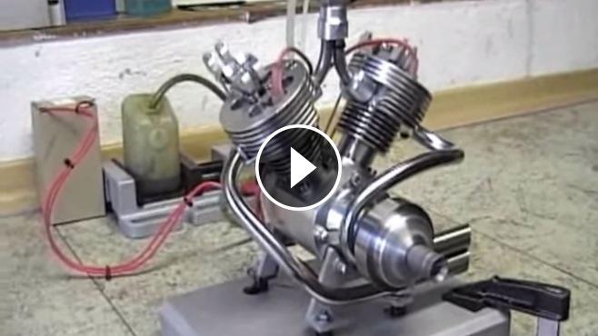 twin  stroke rc model engine