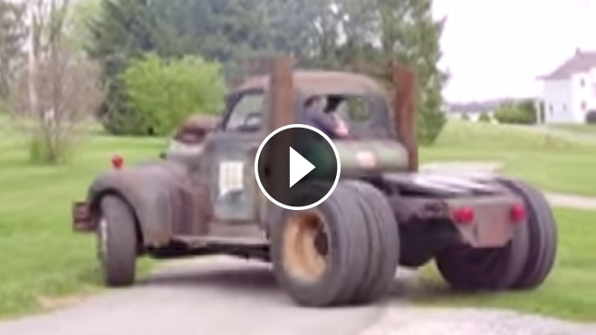 1955 Chevy Truck >> V12 Detroit Diesel Powered Badass Rat Rod Hits the Road ...