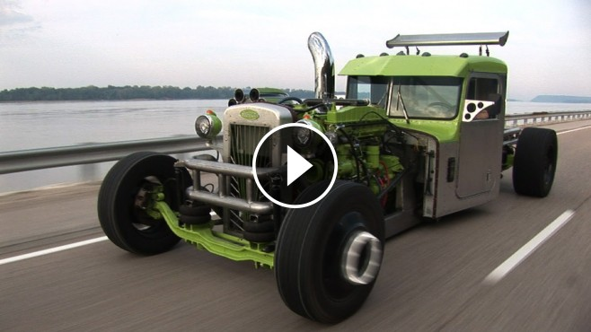 Jaw-Droppingly Cool Custom Built Peterbilt Hot Rod Semi ...