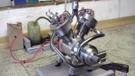 Do It Yourself V-Twin Four-Stroke RC Model Engine