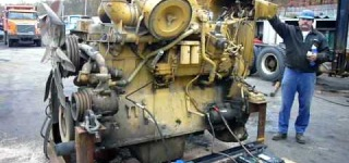 Monstrous Caterpillar D9 Armored Bulldozer Engine in Action