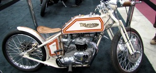 1970 Model Triumph Trophy Tri-Flyer Pre-War Style Custom Bike!