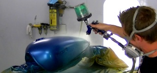 How to Custom Waterborne Paint Motorcycle Tank