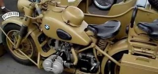 Extremely Rare 1942 Model BMW R75 Sidecar