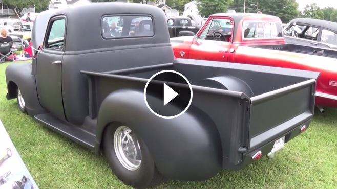 1952 Chevy Truck >> Magnificiently Charismatic Matte Black 1952 Chevrolet Pro Street Hot Rod Truck