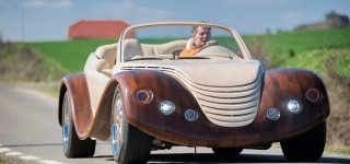 Romanian Car Fanatic Peter Szabo's $20,000 Wooden Car Gives a New Impulse to Automobile Industry