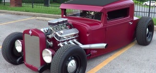 1930 Model Chevrolet Traditional Hot Rod with Stunning Matte Maroon Paintjob