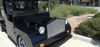 Spookily Funny Coffin Hauler Hot Rod Custom Built For Halloween