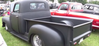 Magnificiently Charismatic Matte Black 1952 Chevrolet Pro Street Hot Rod Truck