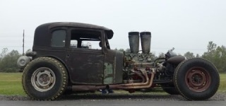 Badass Rat Rod Makes Smokin' Hot Burnouts